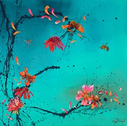 Autumn Buzz II by Kay Davenport -  sized 30x30 inches. Available from Whitewall Galleries